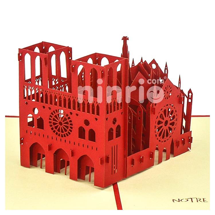Notre Dame Cathedral 3D Card