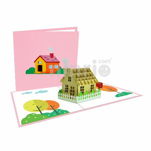 Cosy House Card – Birthday 3D Card
