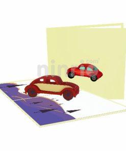 Thiệp ô tô 3D - Thiệp các phương tiện giao thông