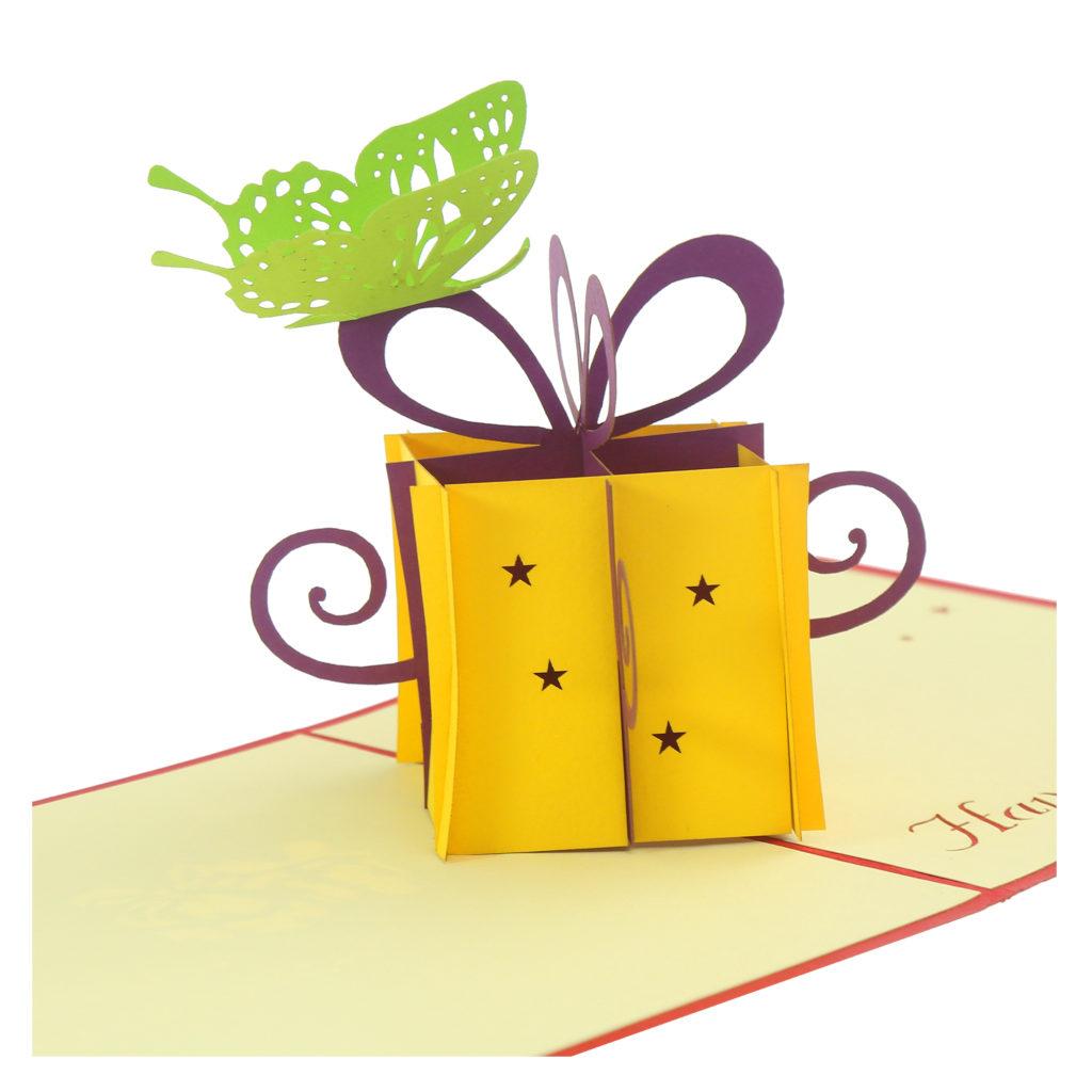 Thiệp Hộp quà sinh nhật – Thiệp sinh nhật pop up