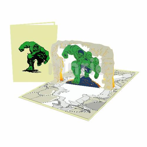 Thiệp 3D người khổng lồ xanh – Thiệp sinh nhật pop up