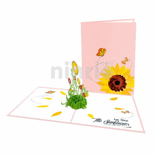 Thiệp hoa hướng dương – Thiệp pop up hoa
