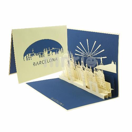 Thiệp thành phố Barcelona tổng thế - Thiệp công trình nổi tiếng