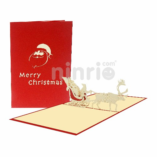 Thiệp Ông già Noel 3D – Thiệp 3D Giáng sinh