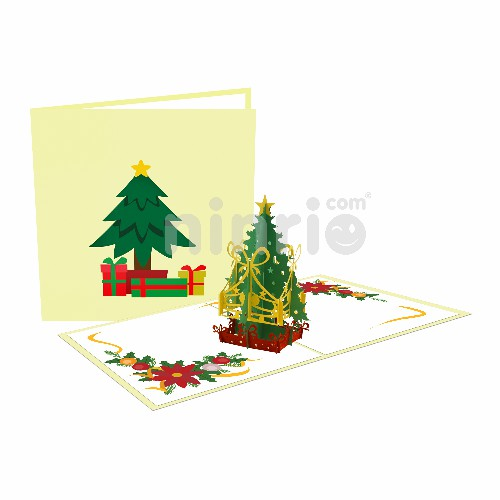 Thiệp Ánh sáng cây thông Giáng sinh - Thiệp Giáng sinh 3D