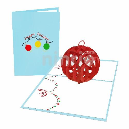 Thiệp quả cầu Giáng sinh - Thiệp 3D Giáng sinh