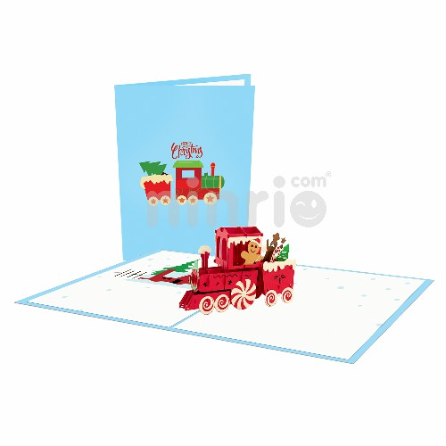 Train Noel Card – Christmas 3D Popup Card