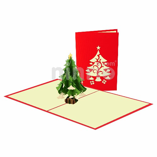 Christmas Tree Card – Christmas 3D Popup Card