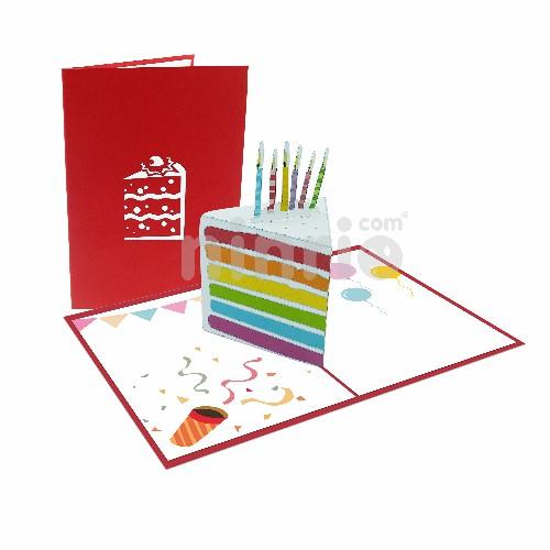 Thiệp 3D sinh nhật – Thiệp miếng bánh sinh nhật
