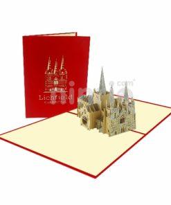 Thiệp nhà thờ Lichfield - Thiệp công trình nổi tiếng