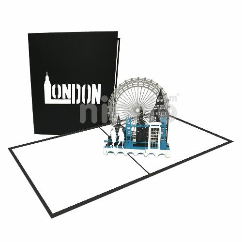 Thiệp London 3D - Thiệp 3D công trình nổi tiếng