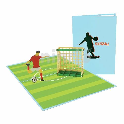 Thiệp bóng đá 3D -Thiệp 3D thể thao