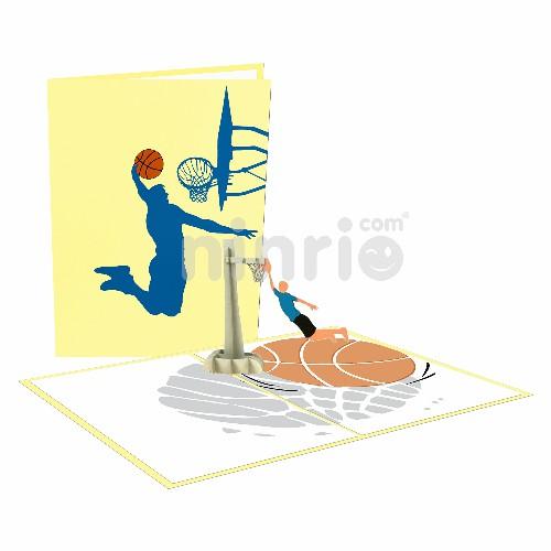 Thiệp bóng rổ 3D - Thiệp thể thao