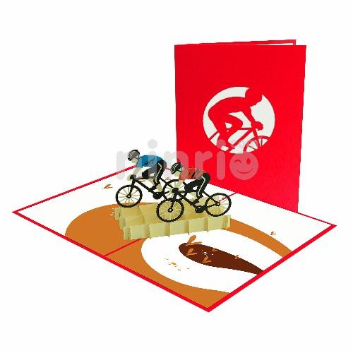 Thiệp tay đua xe đạp - Thiệp thể thao