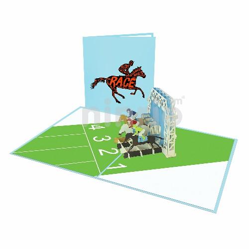 Thiệp Đua ngựa 3D – Thiệp thể thao