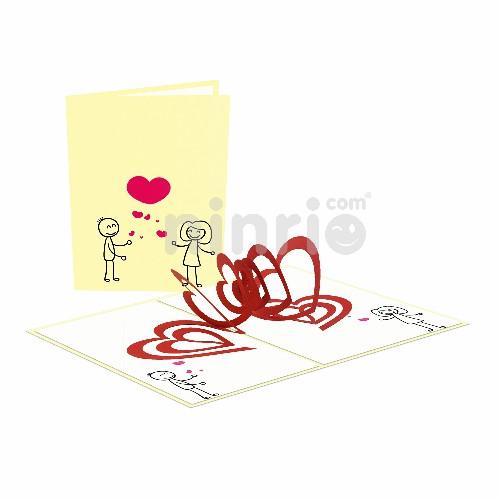 Thiệp tình yêu 3D - Thiệp tình yêu Valentine