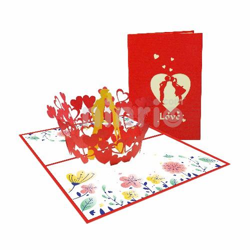 Thiệp Giai điệu tình yêu - Thiệp tình yêu Valentine