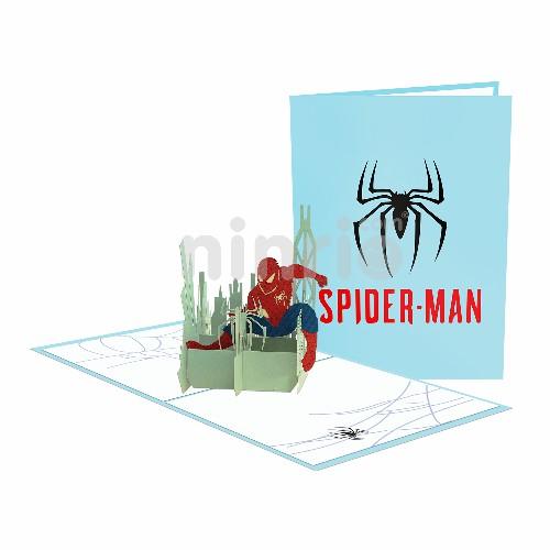 Thiệp 3D Người nhện - Thiệp sinh nhật pop up