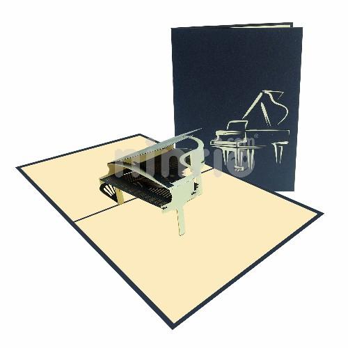 Thiệp 3D âm nhạc – Thiệp đàn piano