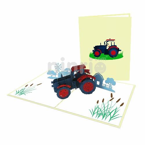Thiệp 3D phương tiện giao thông – Thiệp máy kéo