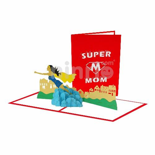 Thiệp Siêu nhân Mẹ - Thiệp sinh nhật pop up