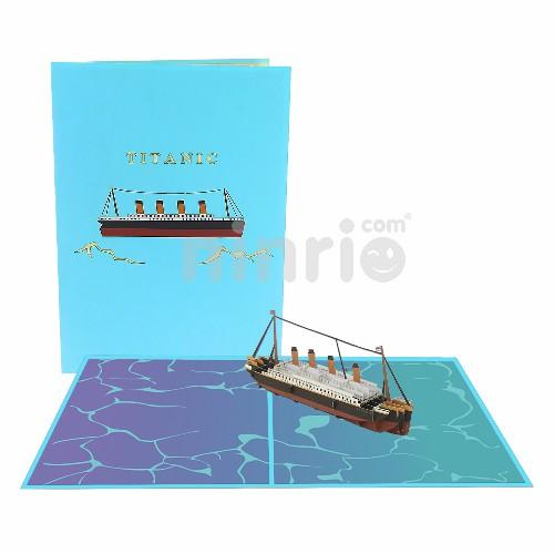 Thiệp 3D tàu Titanic - Thiệp các phương tiện giao thông