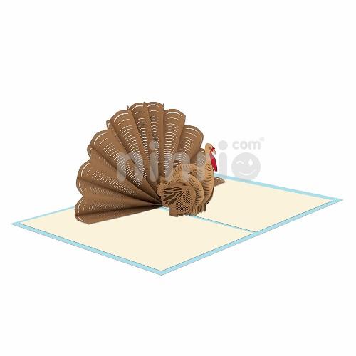 Thiệp Gà tây 3D - Thiệp 3D động vật