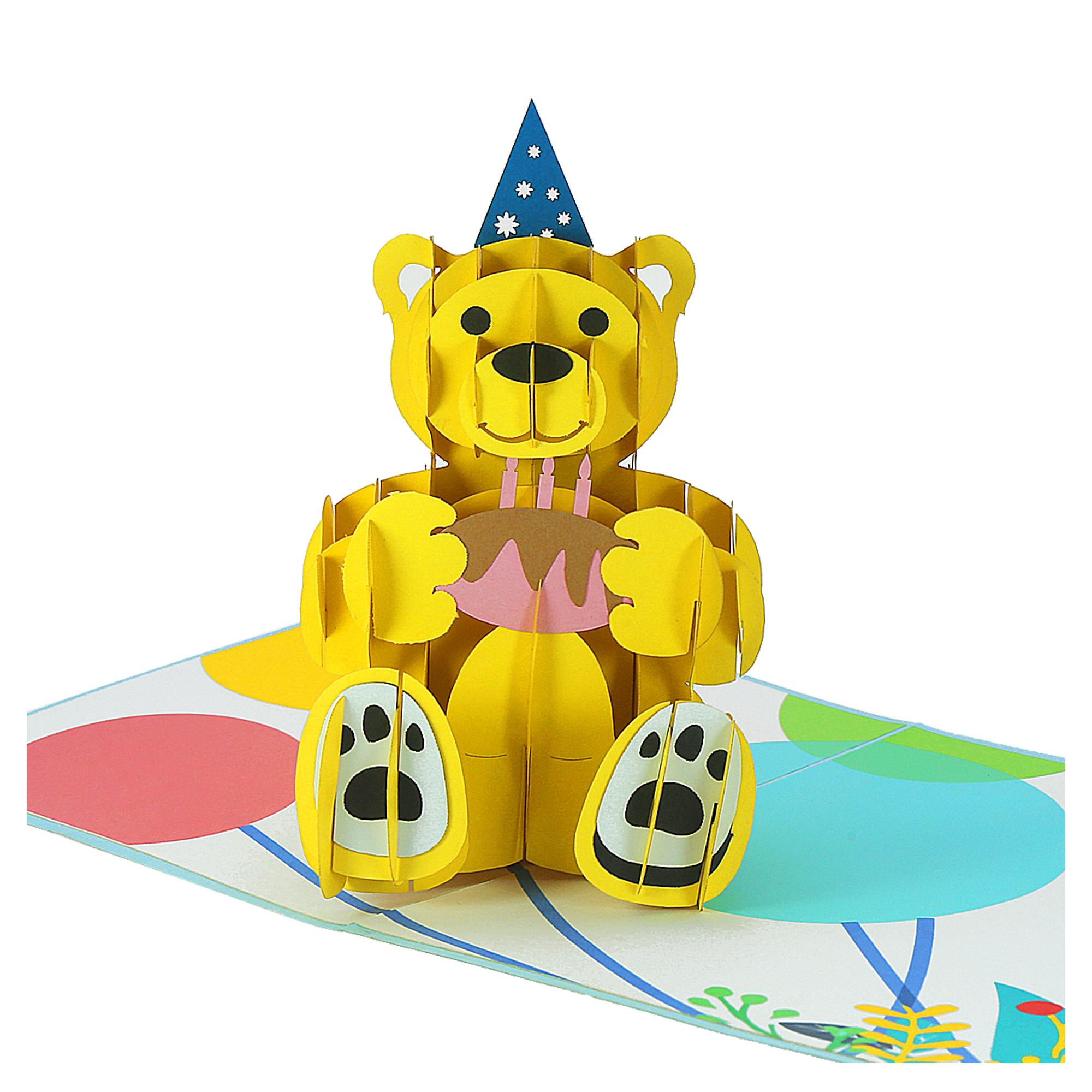 Bear Birthday 3D card - birthday card