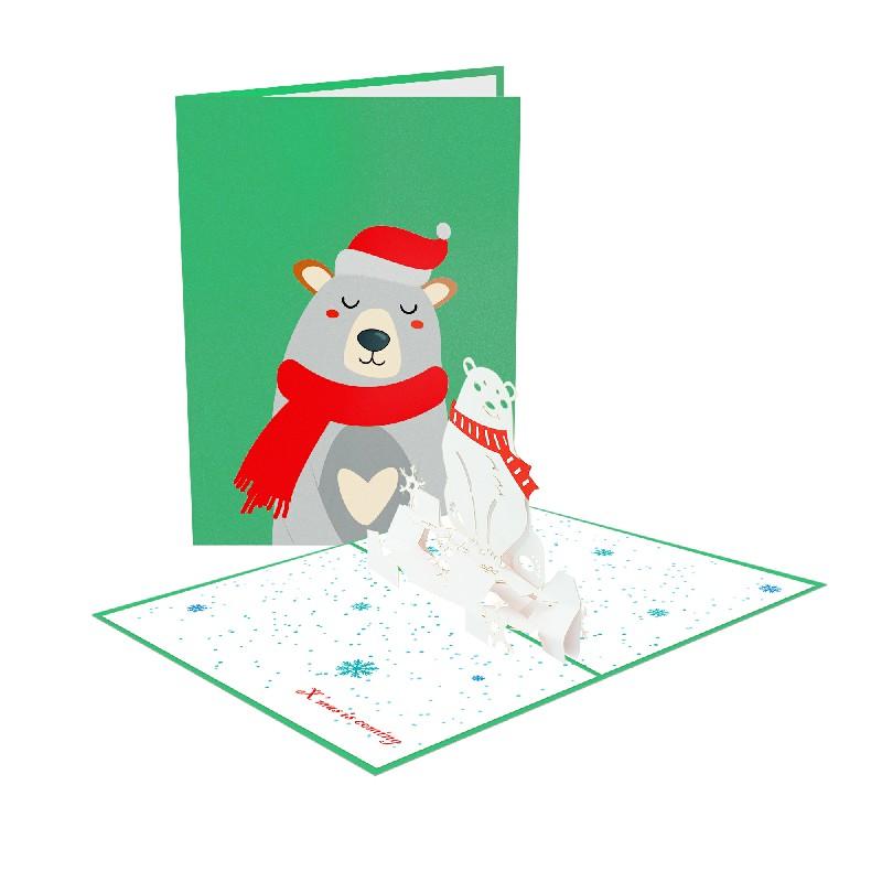 Christmas Bear Card – Christmas 3D Card