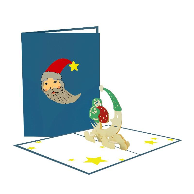 Santa and Moon Card