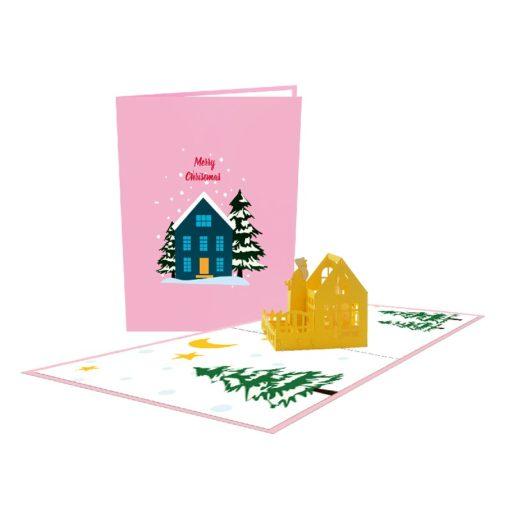 Christmas House 3D Popup Card
