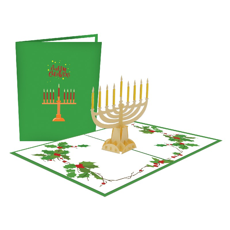 Christmas Candles Popup Card