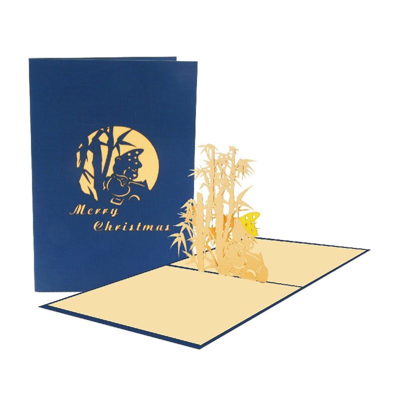 Bear Bamboo Card – Christmas Bear Card