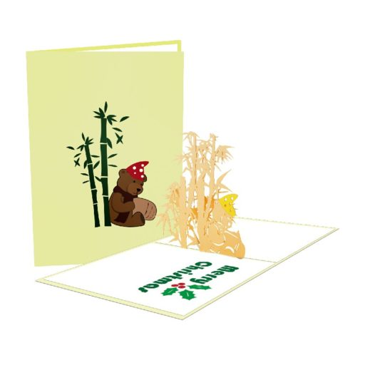 Bear Bamboo Card – Christmas Bear Card