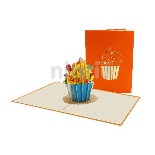 Thiệp bánh ngọt 3D - Thiệp 3D sinh nhật