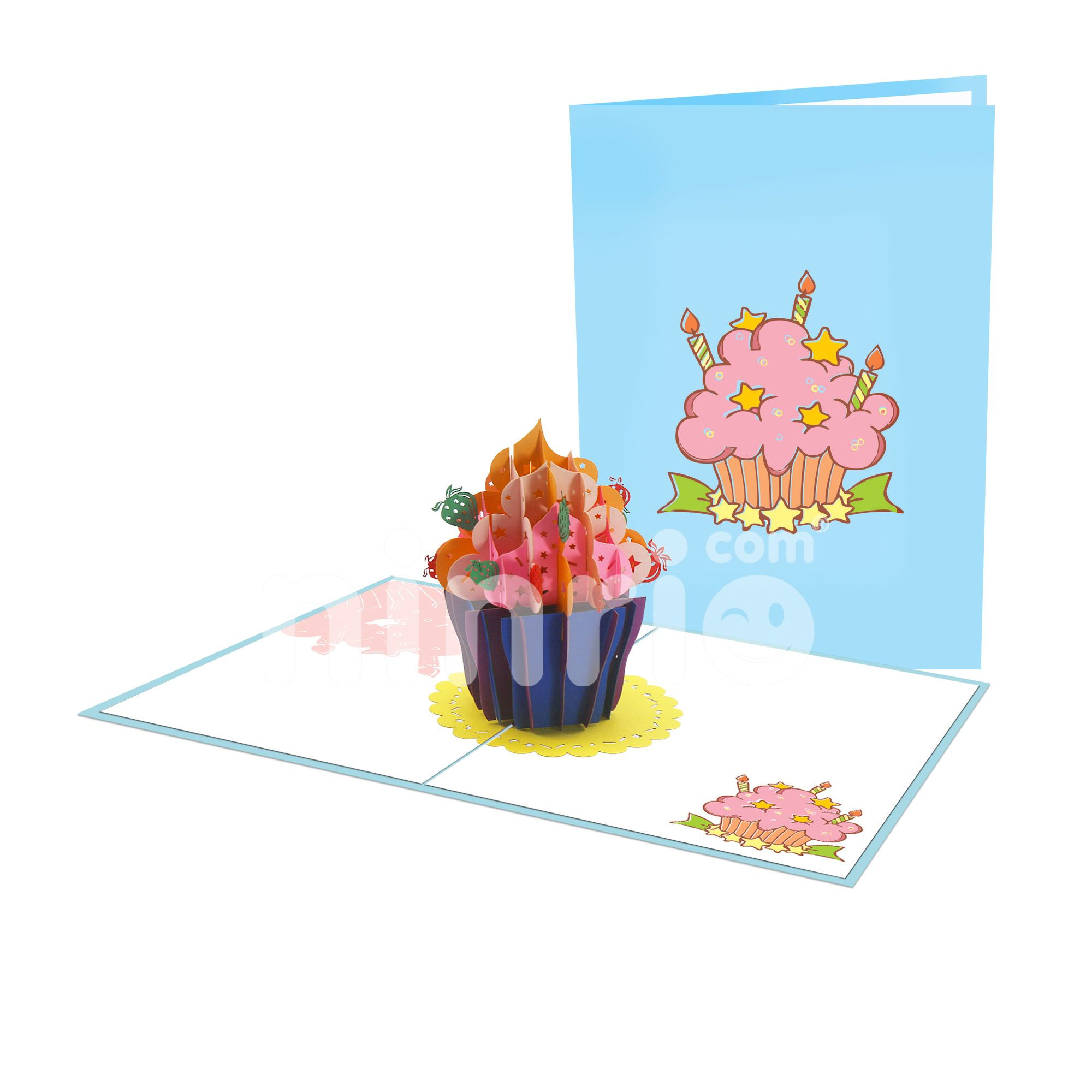 Strawberry Cupcake 3D Card