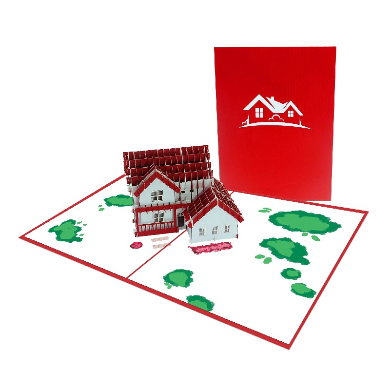 House 3D Card - Birthday Card