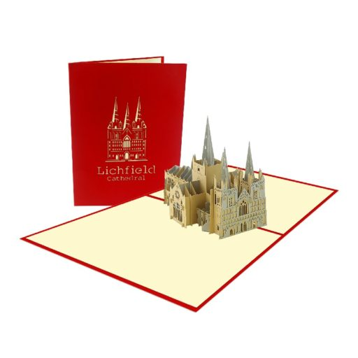 Lichfield Cathedral Card - Building 3D Popup Card