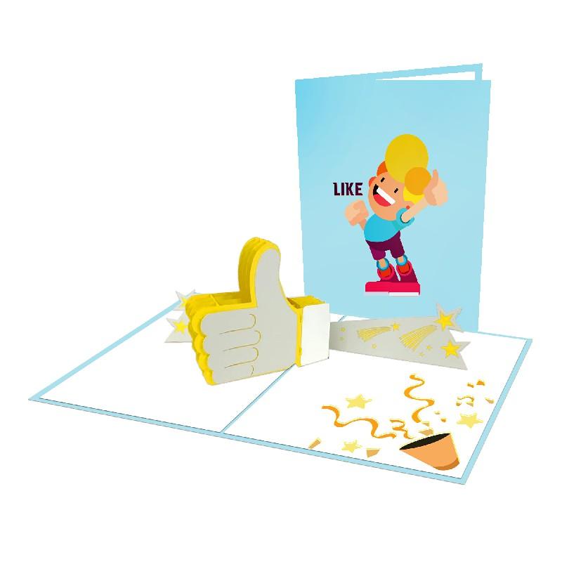 Thiệp Nút Like 3D – Thiệp sinh nhật pop up