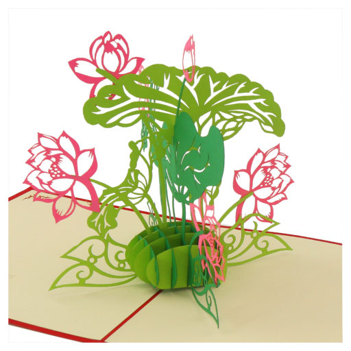Flower 3D card - birthday card