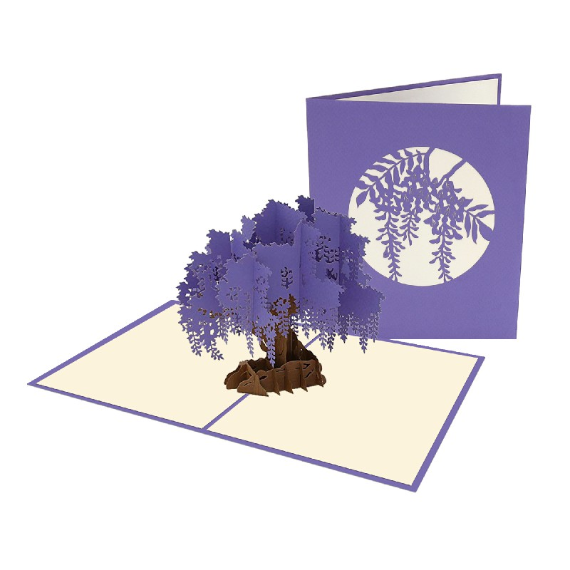Wisteria Tree Card – Flower 3D Card