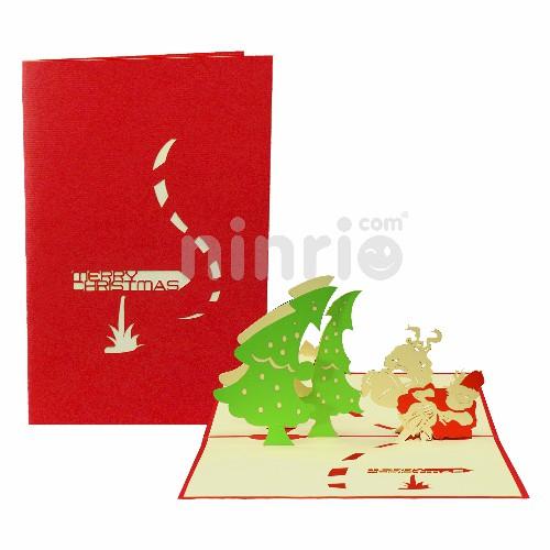 Santa 3D Card - Christmas Card
