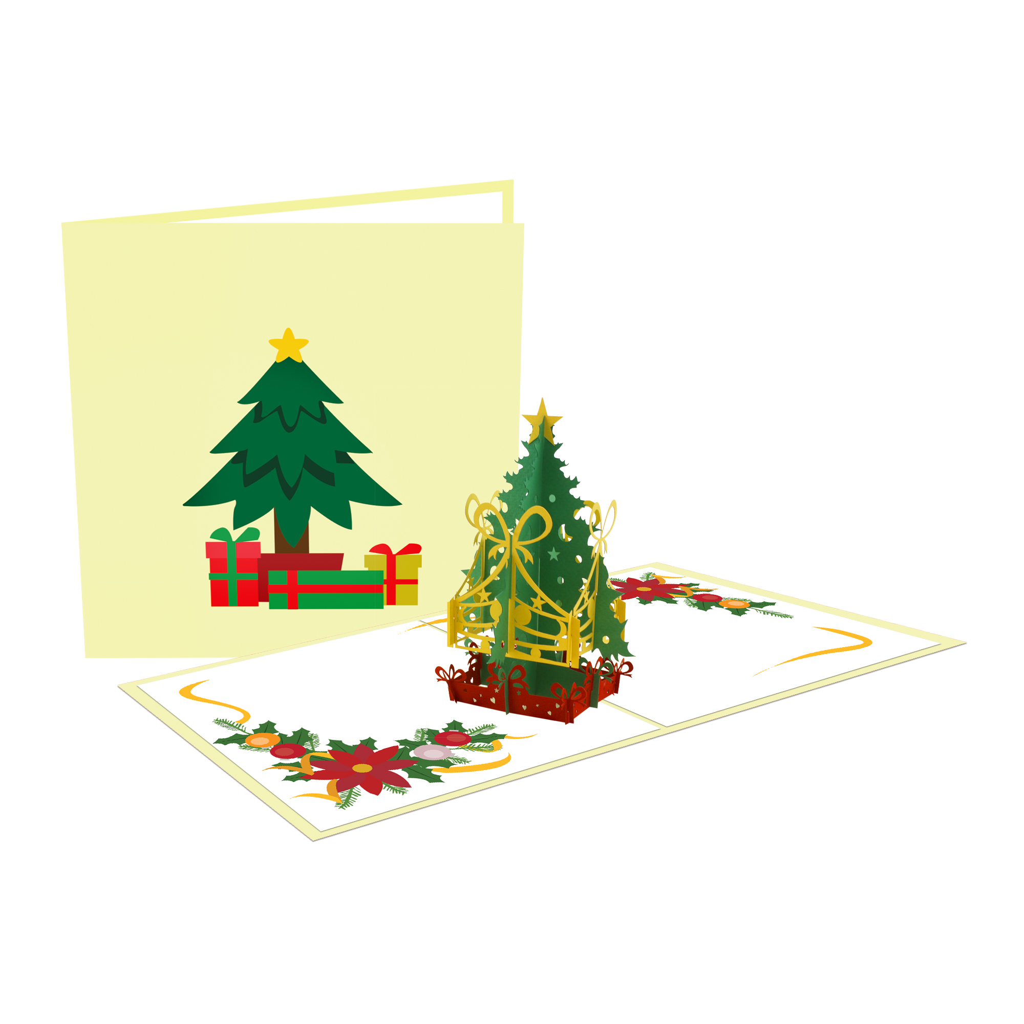 Pop up Christmas Card - Christmas tree