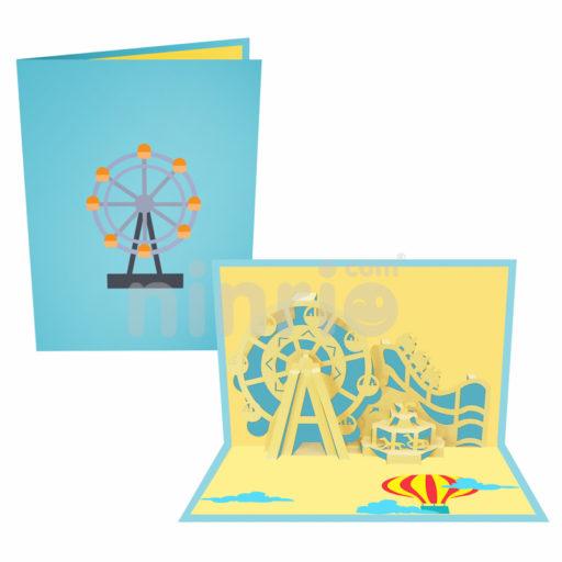 Thiệp Đu quay khổng lồ Ferris 3D – Thiệp Công trình nổi tiếng