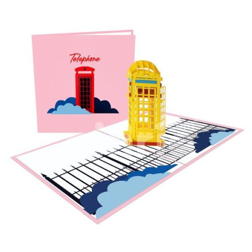 Telephone Booth Card – Building 3D Card