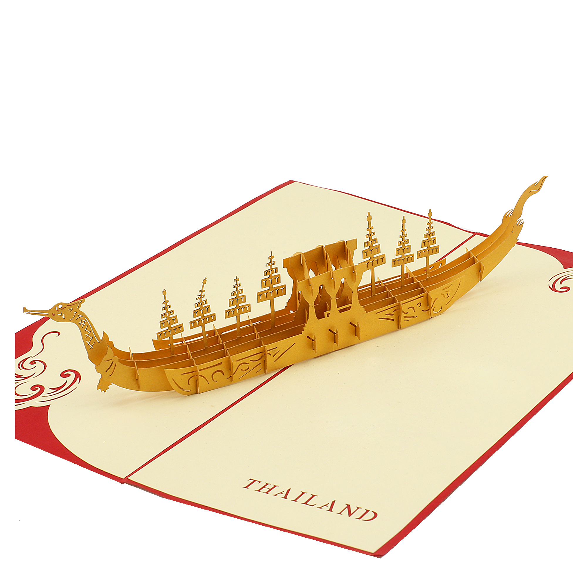 3D card, royal barge