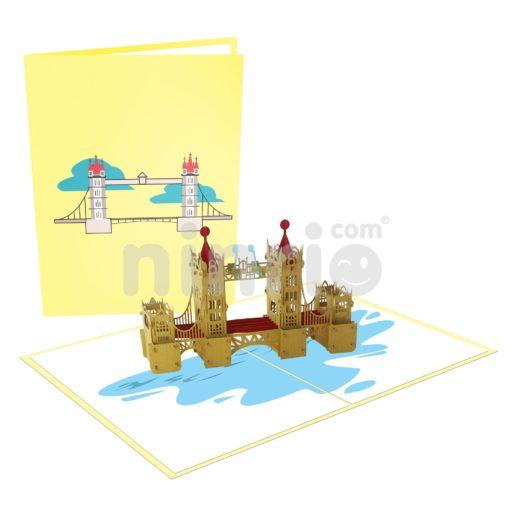 Thiệp cầu tháp Luân Đôn - Thiệp công trình nổi tiếng
