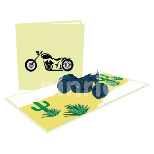 Motorcycle Card– Transport 3D Popup Card