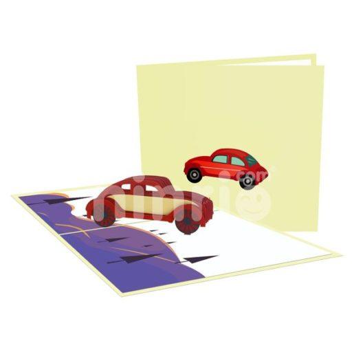 Car Card – Transport 3D Popup Card