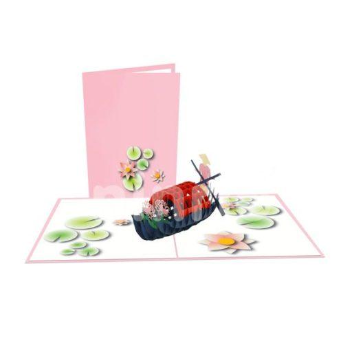 Ferryboat Girl Card – Viet Nam 3D Popup Card